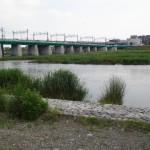 多摩川の水位